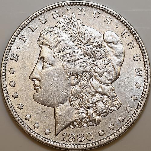 1880 O Morgan Silver Dollar - Choice BU / MS / UNC