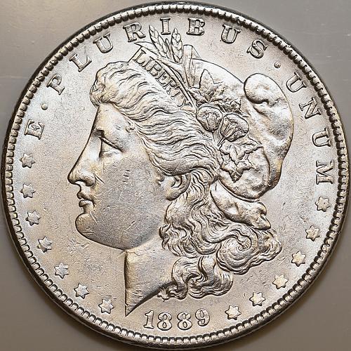 1889 P Morgan Silver Dollar - Choice BU / MS / UNC