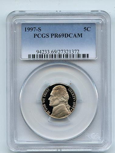 1997 PCGS PR69DCAM Jefferson Nickel