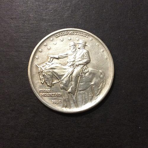 1925 Stone Mountain Commemorative Half Dollar, AU imo with details