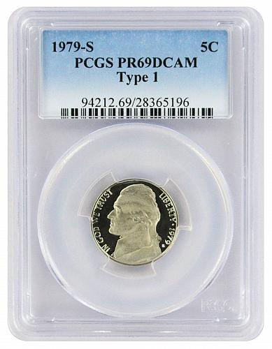 1979 PCGS PR69DCAM Jefferson Nickel Type 1