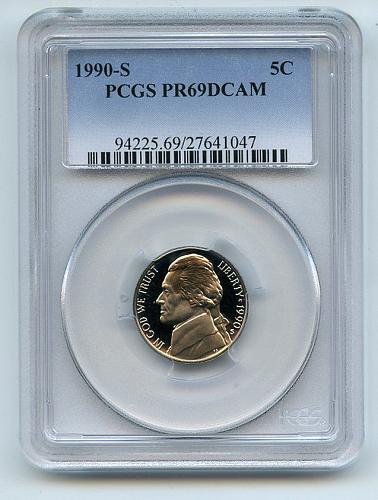 1990 PCGS PR69DCAM Jefferson Nickel
