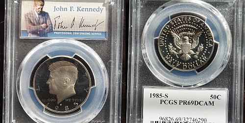 1985-S 50C DC (Proof) Kennedy Half Dollar PR69DCAM FREE SHIPPING
