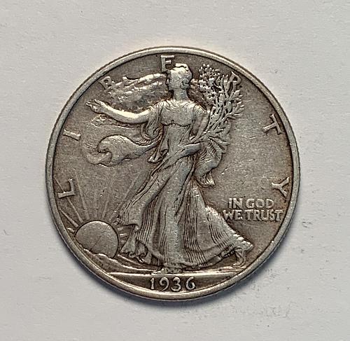 1936 Walking Liberty Half Dollar Choice VF30 [WL 121]