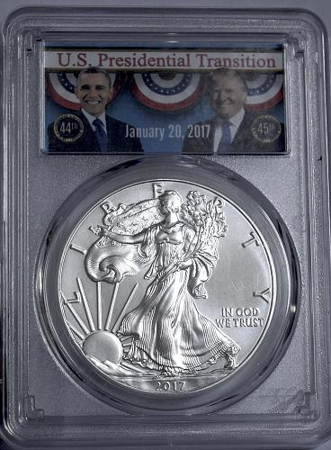 2017 W American Silver Eagle Bullion Coins: Bullion (No Mint Mark) PCGS MS69