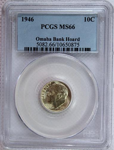 1946 P Roosevelt Dime - Omaha Bank Hoard