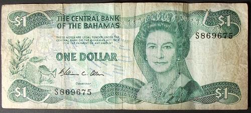 Bahamas P43a Dollar Fine