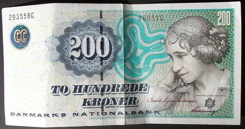 Denmark P62d 200 Kroner VF