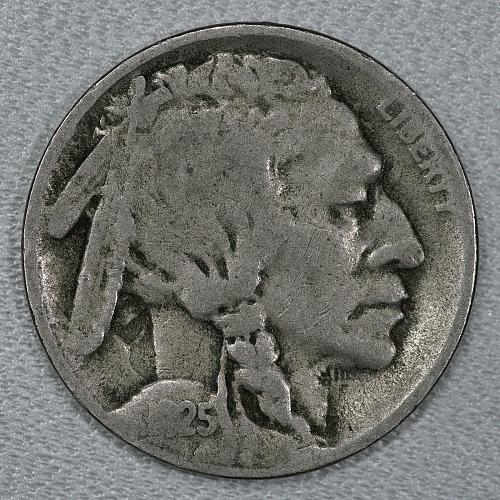1925-S VF Buffalo Nickel, nice piece with a lot of detail remaining