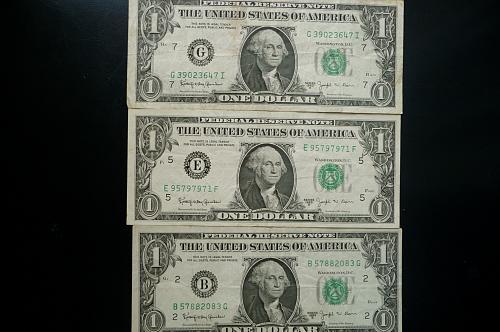 ( 3 ) 1963-B  $1.00  F R N.  JOSEPH BARR NOTES