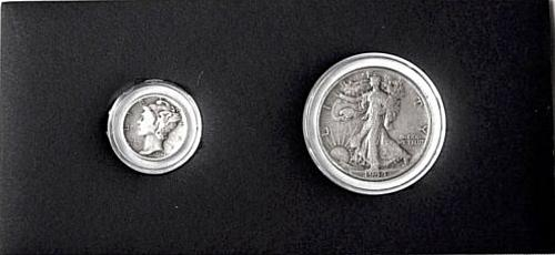 1944 LIBERTY HALF DOLLAR AND 1944 DIME LOT OF 2 COINS COLLECTIBLE GIFT IDEA