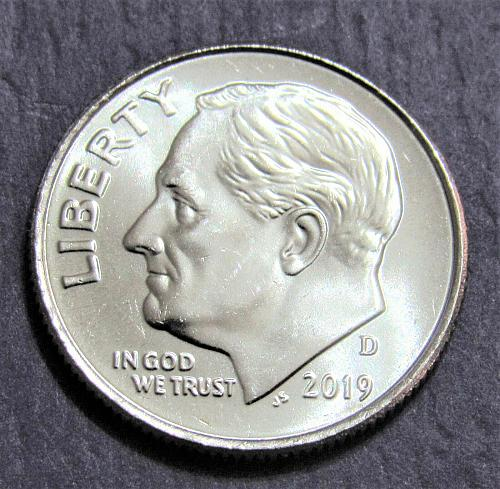 2019-D 10 Cents - Roosevelt Dime - Uncirculated from Mint Roll