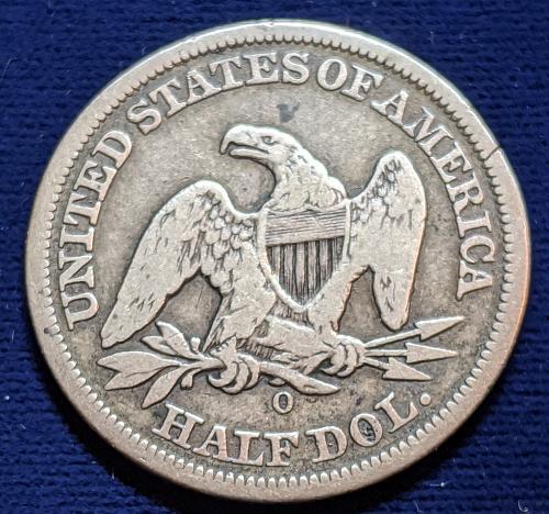 1855-0 ARROWS VERY GOOD SEATED LIBERTY HALF DOLLAR
