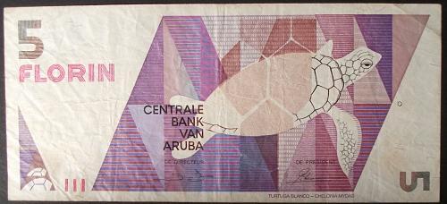 Aruba P6 5 Gulden Fine