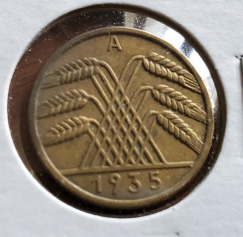 1935 A - Germany - 10 Pfennig - KM #40 - 0129