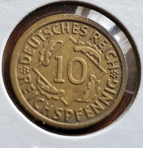1935 A - Germany - 10 Pfennig - KM #40 - 0129