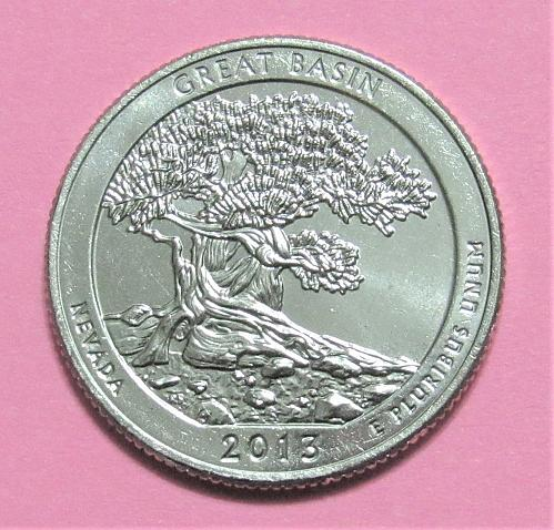 2013-D 25 Cents Great Basin Nevada National Park America the Beautiful Quarter