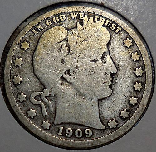 Barber Quarter 1909-D
