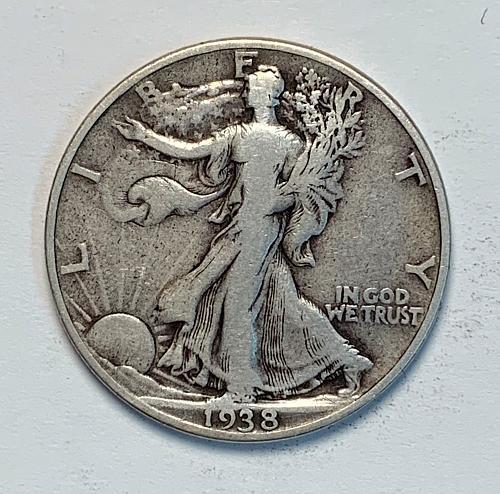 1938 Walking Liberty Half Dollar [WL 135]