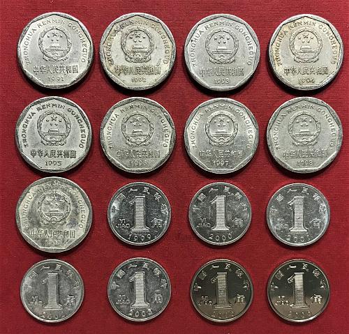 China 1 Jiao = 1991 to 1999, 1999 to 2003, 2005, 2006