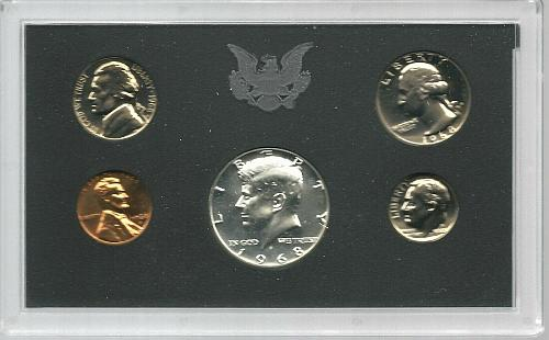 1968  S     SILVER  PROOF  SET