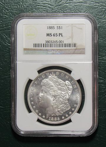 1885 MS65PL Proof Like Morgan dollar