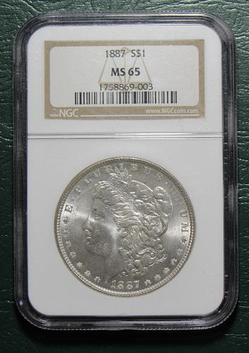 1887 Morgan Dollar Certified