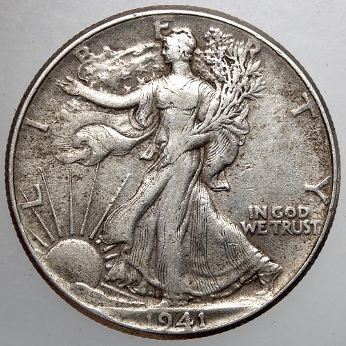 1941 P Walking Liberty Half Dollar #9