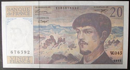 France P151f 20 Francs AU