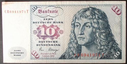 Germany/Federal Republic P31d 10 Deutsche Marks F-VF