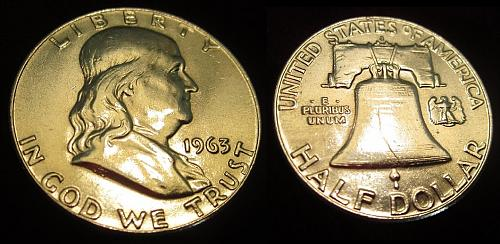 """1963-D ~Silver~ Franklin Half Dollar - Look at the """"DETAIL & LUSTER"""""""