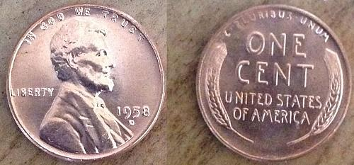 1958-d Lincoln Cent In BU Condition. Very nIce Coin for your penny collection.