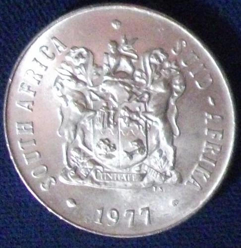 1977 South Africa 50 Cents BU