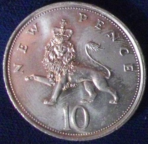 1979 Great Britain 10 New Pence UNC