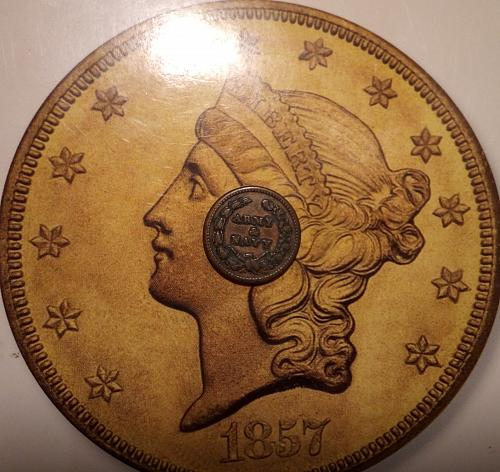 1863 Civil War Token: Capped Lady Army and Navy