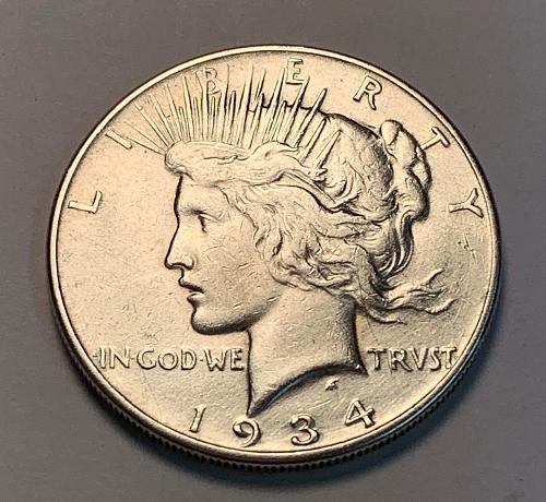1934 Peace Dollar VF [PDL 12]