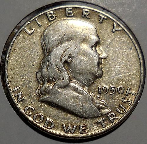 Franklin Half Dollar 1950-P