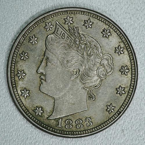 1883 No Cents AU Liberty Nickel, nice original coin w/ a lot of luster remaining