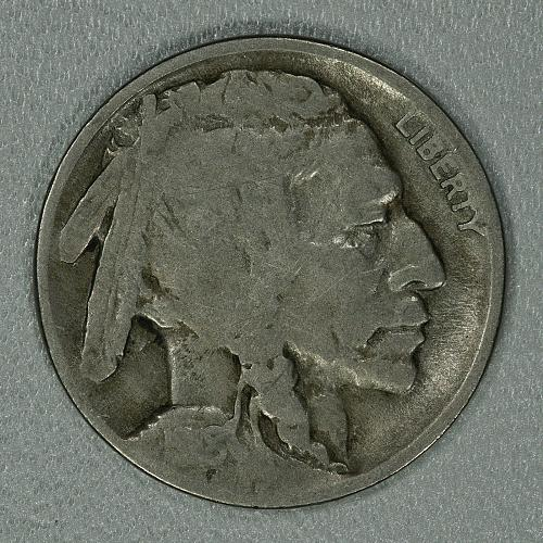 1918-D G-VG Buffalo Nickel, scarce early issue with decent detail remaining