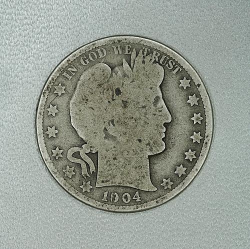 1904-O G Barber half dollar #1, decent coin for your set