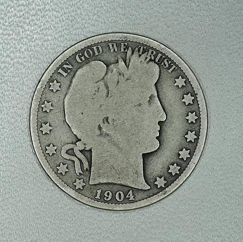 1904-O G Barber half dollar #2, decent coin for your set
