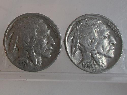 1937 D Buffalo Nickels