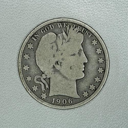 1906-D VG Barber half dollar, decent coin for your set