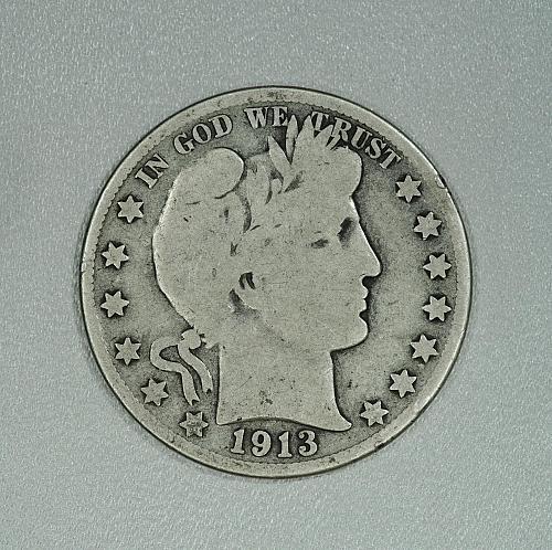 1913-S G-VG Barber half dollar, decent coin for your set
