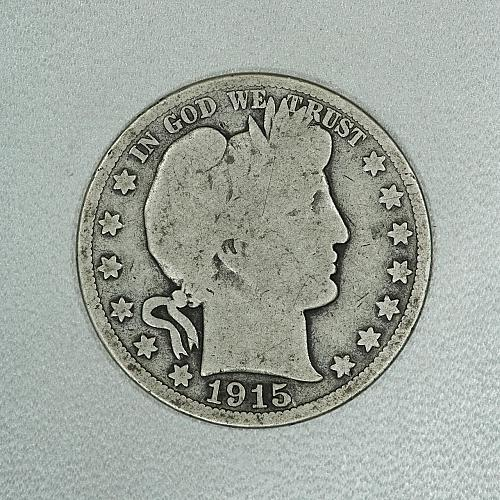 1915-S G Barber half dollar #1, decent coin for your set
