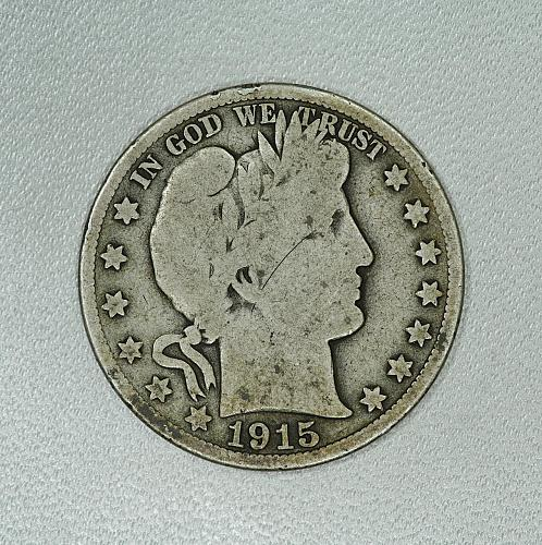 1915-S G Barber half dollar #2, decent coin for your set