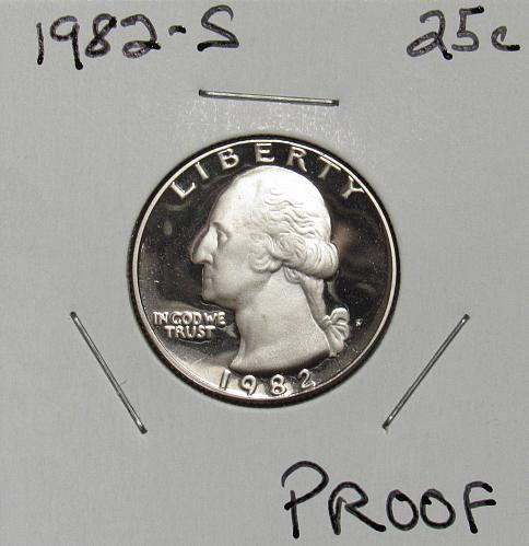 1982 S Proof Washington Quarter