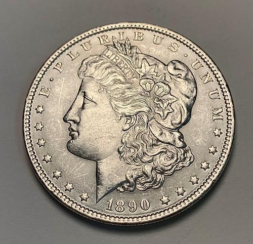 1890 Morgan Silver Dollar BU [MDL 179]