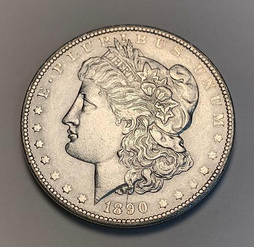 1890 Morgan Silver Dollar AU [MDL 182]