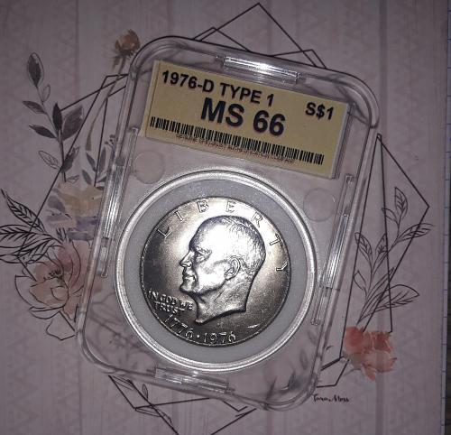 1976 D Eisenhower Dollar MS 66